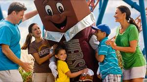 A Hershey chocolate character at Hersheypark.