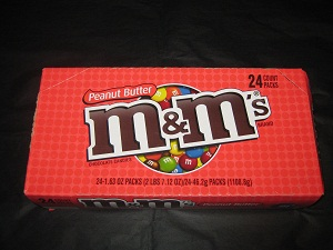 Peanut Butter M&Ms. Available to buy online in Australia from http://www.moolollybar.com.au. To go there just click on this photo!