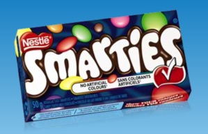 Smarties. Available to buy in bulk online from http://www.moolollybar.com.au. To go there just click on this photo!