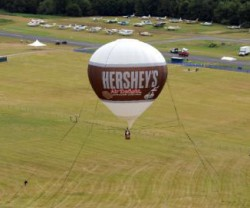 Hershey Balloon Flies High