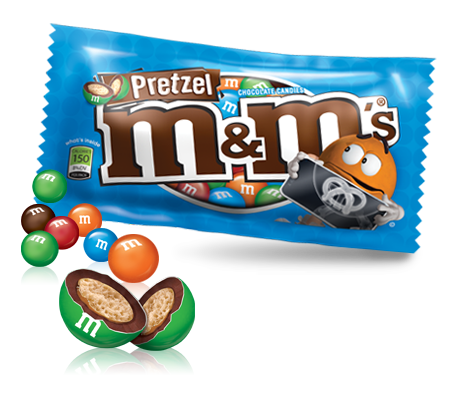 Buy Bulk M&Ms Pretzel online at Moo-Lolly-Bar Australia