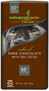 ENDANGERED SPECIES CHOCOLATE EXTREME DARK CHOCOLATE BAR