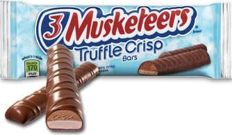 Buy Bulk 3 Musketeers Truffle Crisp online at Moo-Lolly-Bar Australia